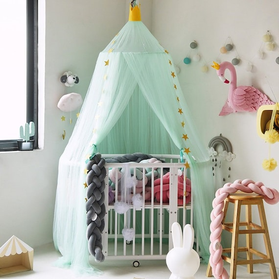 Green Canopy Decor: Items Similar To Light Mint Green Canopy, Crib Canopy, Bed
