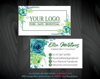 Arbonne business cards etsy custom business cards personalized business card business cards independent consultant business cards business cards ab84 colourmoves