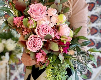 Cascading Bridal Bouquet Purchase real-touch flowers Paradisia