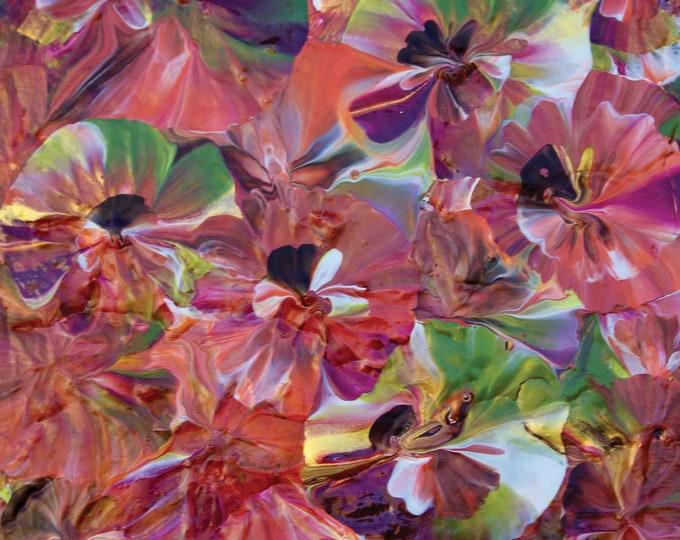 Pansy Garden - 8 x 8 Print