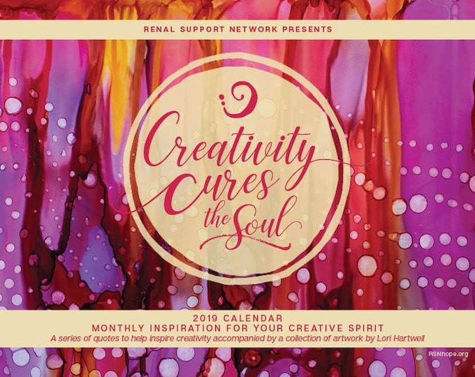 2019 Calendar 'Creativity Cures the Soul'