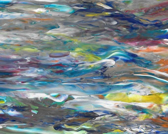 Blue Log - 8.5 x 11 Print