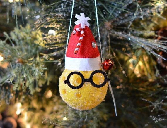 Mini Pickleball Ornament  Snow Santa Pickleball Christmas