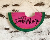 Sweet summertime watermelon sign summer sign summer decor watermelon wall hanging summer wood sign happy summer fruit summer signs