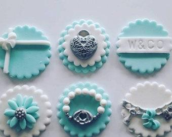 588b5f66bcd Tiffany Oreo Toppers, Birthday Gift, Engagement Gift, Tiffany Blue