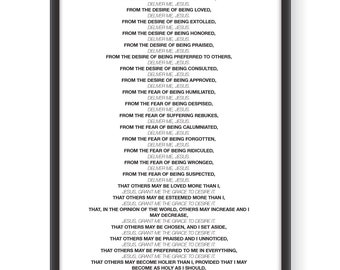 image about Litany of Humility Printable titled Humility Etsy
