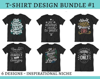 cde1f80f Inspirational Bundle PNG Tshirt Design, PNG files, Merch by Amazon