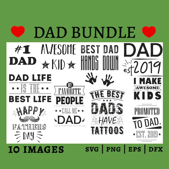 Fathers Day Svg Bundle Daddy Svg Fathers Day Gift Happy Etsy