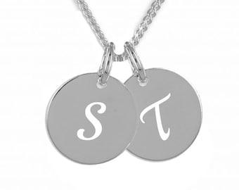 Gravur Platte mit persönlichem Buchstaben-Silber 925 Gravur /& Kette
