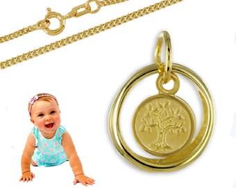 Weißgold 333 Baby Taufe Schutz Engel Kreuz Taufring Und