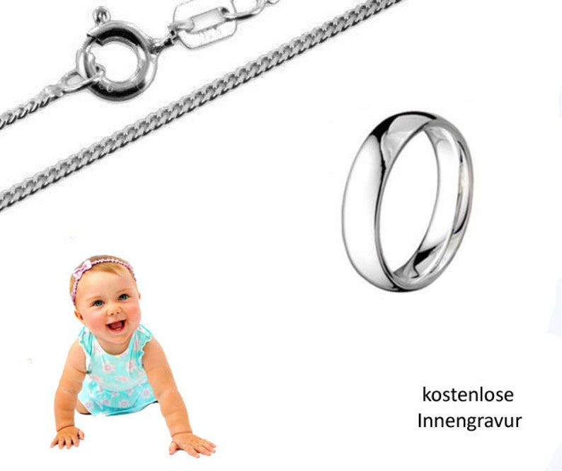 Taufe Baby Taufe Schutz Engel Echt Gold 333 Infinity