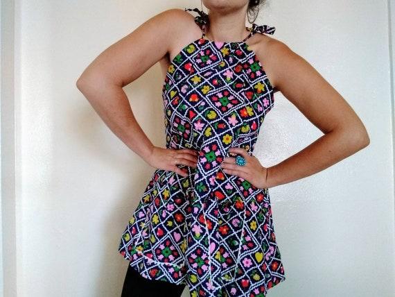 Adorable Handmade Vintage Dress Shorts Set