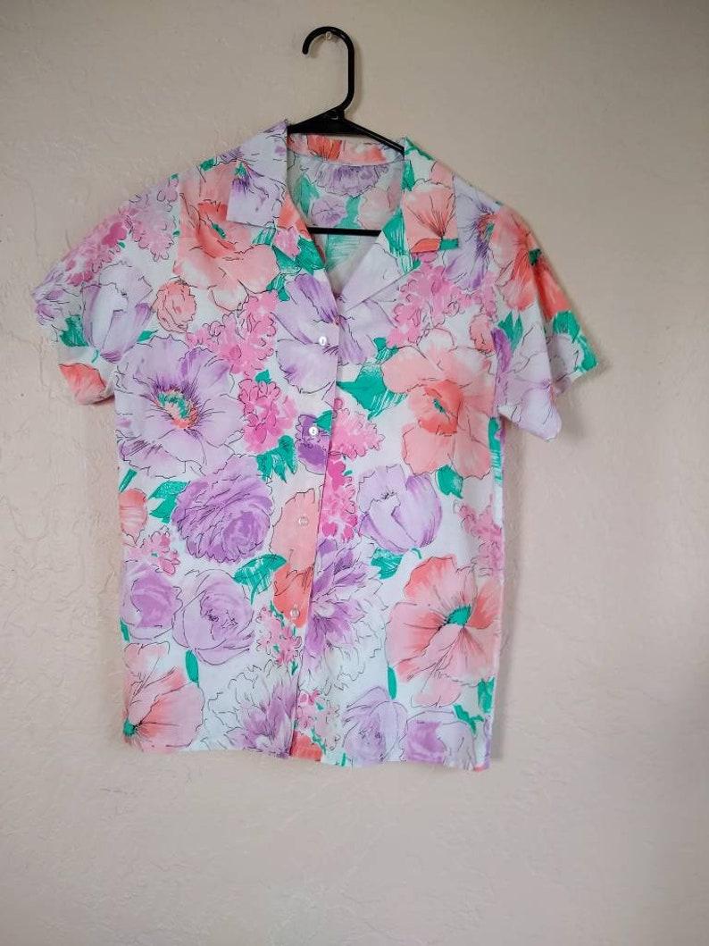 Floral Vintage Summer Button Up
