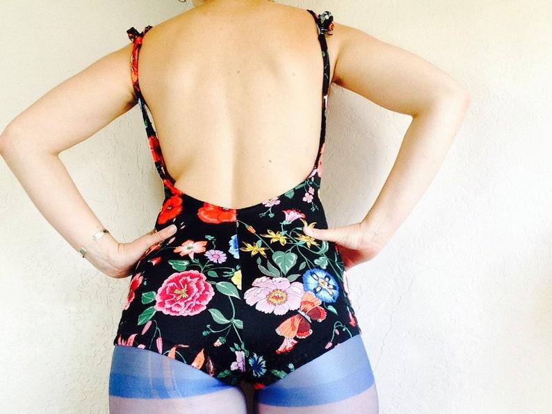 Vintage Floral One-piece Swimsuit