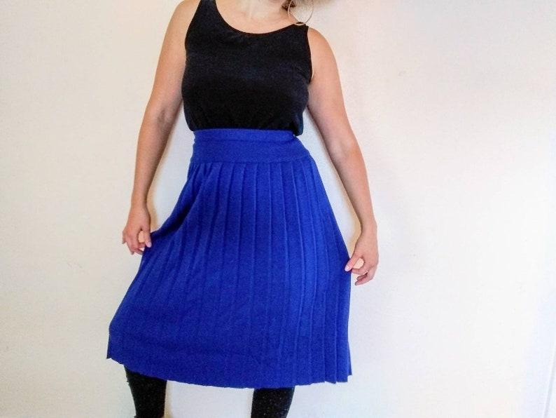Vintage Blue Liz Claiborne High Waisted Wool Skirt