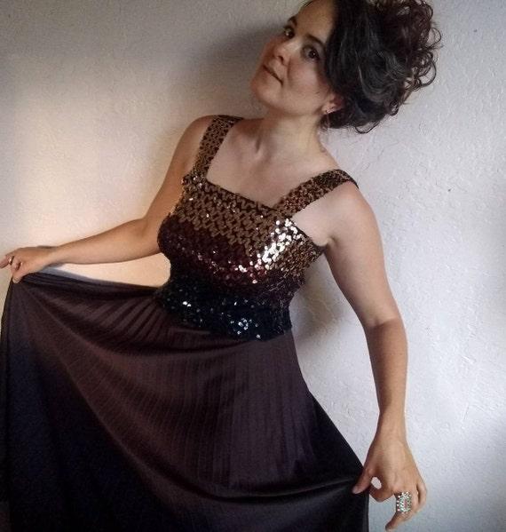 Vintage 70s Maxi Sequin Dress