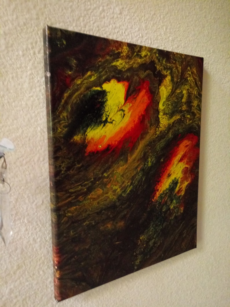 Abstract Painting (Destiny's Comet), Created by our 7 year old Artist,  Acrylic painting