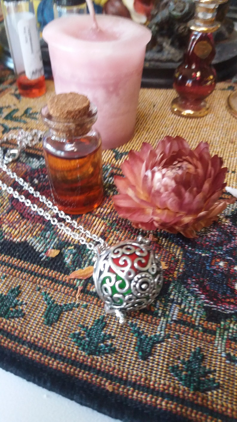 New love attraction,soulmate Attract love Diffuser necklace Love  Attraction oil gift set wiccan pagan Hand crafted Romance