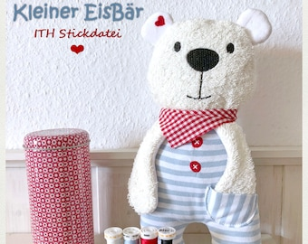Embroidery file ITH small Ice Bear in the hoop