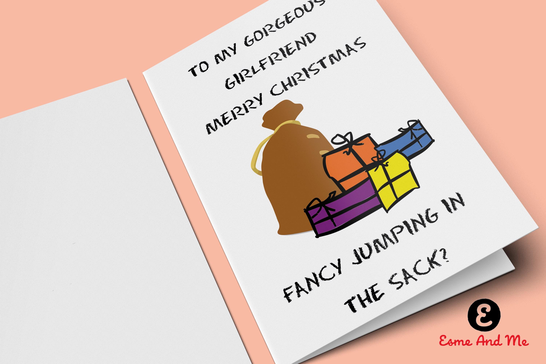 Frohe Weihnachten Freundin.Meine Wunderschöne Freundin Frohe Weihnachten Lust Auf Einen Sprung In Den Sack Lustige Weihnachtskarte Unhöflich Frech Gruß Karte