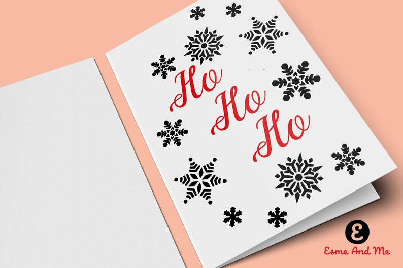 Christmas Card Printing.Ho Ho Ho Christmas Card Print Yourself Downloadable Card Print At Home Funny Christmas Card Rude Cheeky Greetings Card