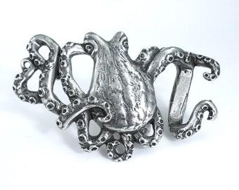Octopus belt buckle, belt buckle