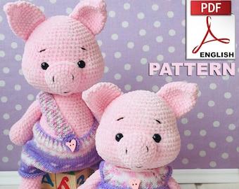 Instant Download Crochet Doll Pattern Crochet Amigurumi Crochet Pattern Pig Piggy and Pig amigurumi Toy crochet pattern