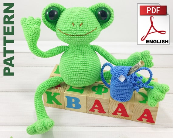 Baby Knitting Patterns Fritz The Frog Amigurumi Pattern... | 453x570