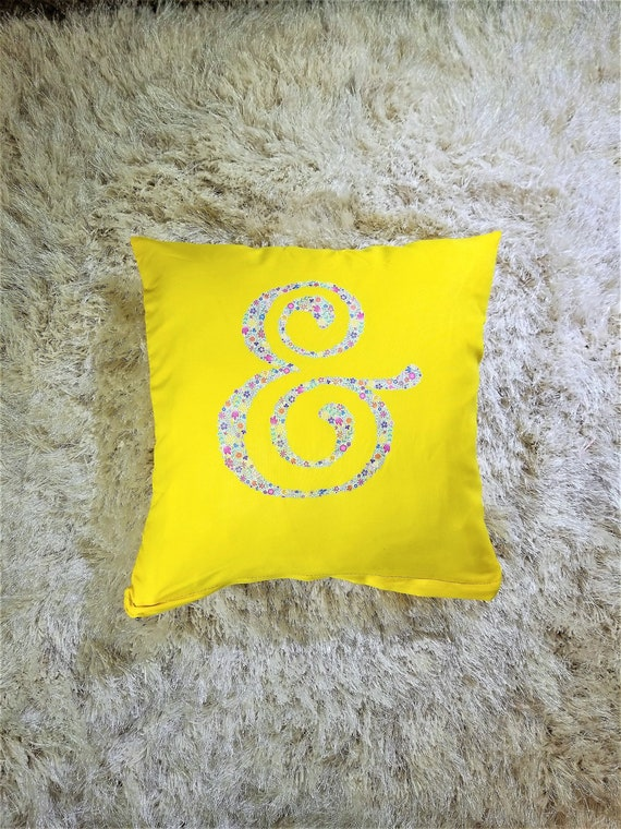 Warm Happy Yellow Throw Pillow With Removable Cover And Etsy