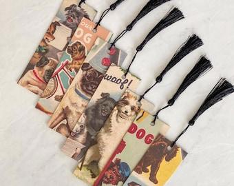 Dog Bookmark, Vintage Pet Themed Bookmark Handcrafted