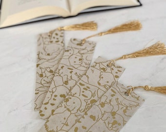 Golden Retriever Bookmark   Dog Bookmark with Tassel   Cute Bookmarks for Dog Lovers   Decoupauged Bookmark Gifts Under 10