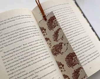 Faux Leather Bookmark, Handcrafted Animal Bookmarks, Dogs Cats Hedgehogs Designs