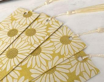Flower Bookmark   Daisy Bookmark with Tassel, Handmade Eco-friendly Bookmarks, Graduation Gift, Quarantine Reading, Bookmark for Woman