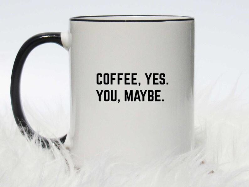image 0 Black Handle Mug