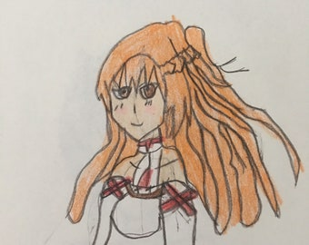 Asuna from Sword Art Online on 8.5x11 piece of paper 0698864f14336
