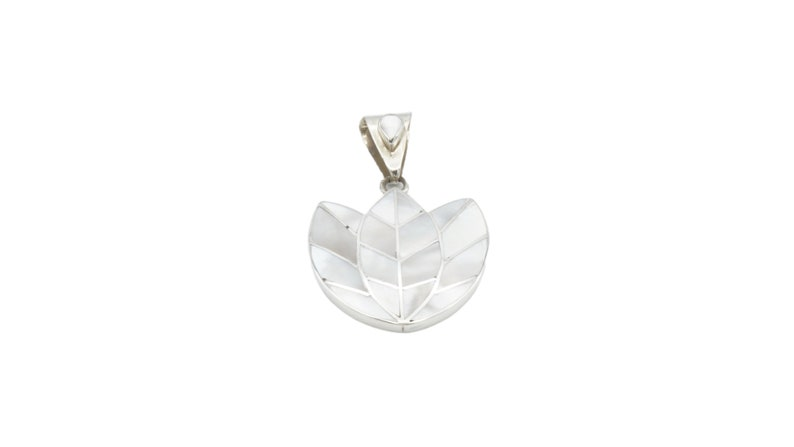 Tulip Women Pendant with sterling silver Handmade Silver 950 Sterling Silver Modern Design Natural Stones Unique Gift for her