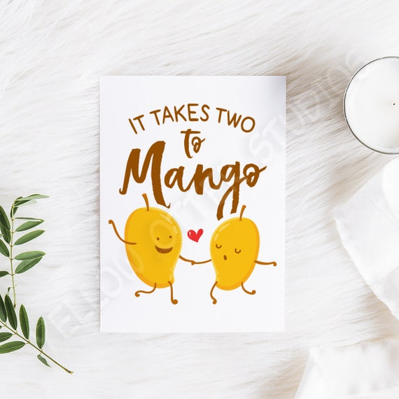Cute Anniversary Card It Takes Two To Mango Cute First Date Greeting Cards Dating Card For Lovers Happy Anniversary Wedding Card