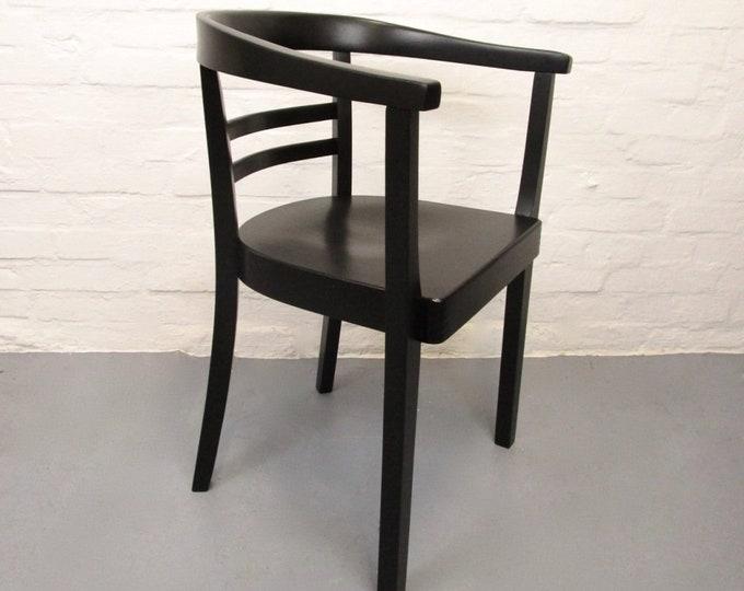 Black Rundlehner-Armchair-Bauhaus Era-Walter Gropius Era-30s-40s