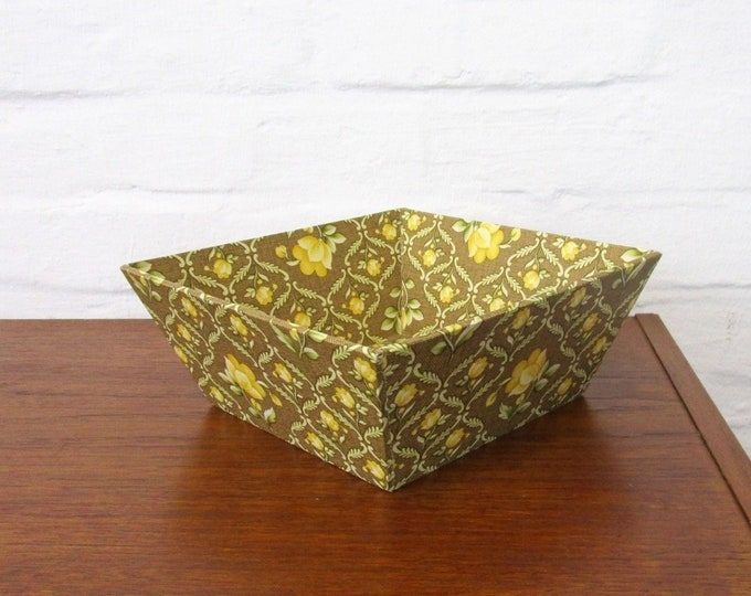 "Retro bowl with floral motifs-cardboard bowl, lace bowl of ""box building""-50s 60s 70s-retro wallpaper"