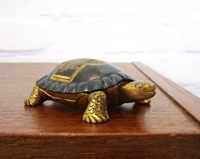 Art Deco Turtle letter complainant Paper Weight Brass-antique-rarity-collectible-Bohemian