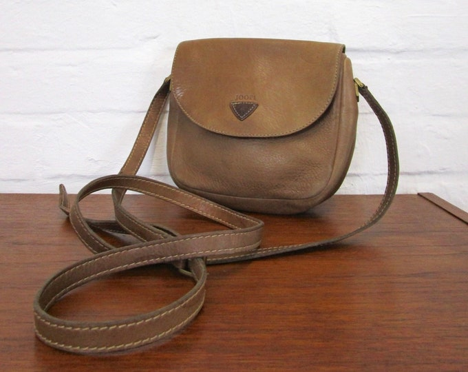 Joop! -Classic shoulder bag in brown soft leather-Crossbody-Designer bag-shoulder bag