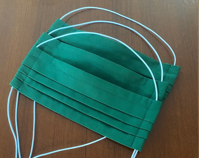 Everyday mask dark green filter opening noseband - mouth-nose mask - mouth cover - mask - mouth nose mask - makeshift mask - washable green