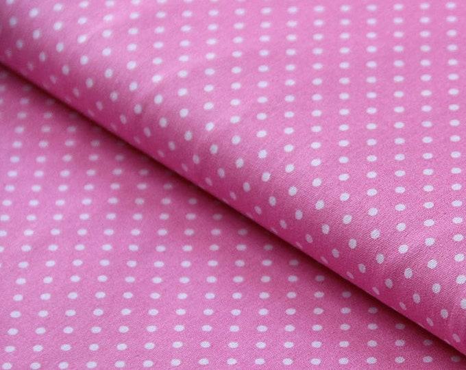 Everyday mask pink pink dots polka dots dots noseband - mouth-nose mask - mouth cover - mask - mouth-nose mask makeshift mask