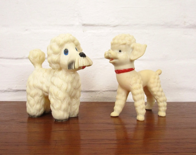 Vintage poodle pair-toys-king puodle-Couple-Decoration-dog toys-rarity