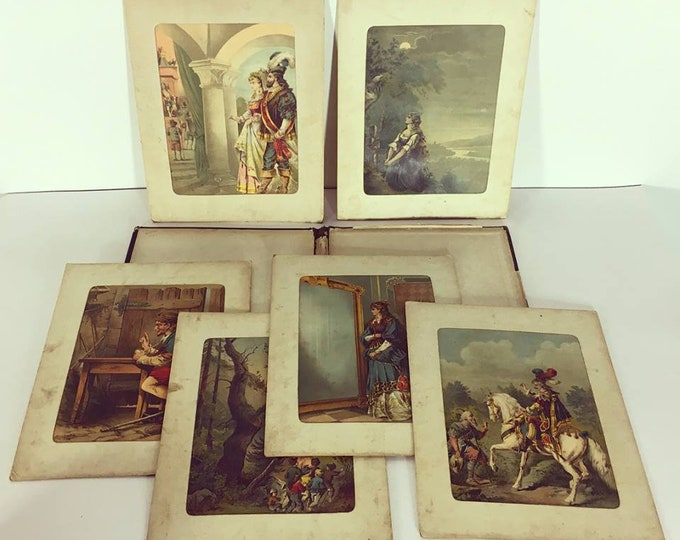 Fairytale portfolio, 1880-1890, six color blithographs-rarity, lithography-lithograph-collectors-fairy tales-antique