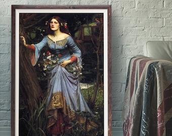 1902 Art Canvas//Poster Print A3//A2//A1 Waterhouse The Crystal Ball