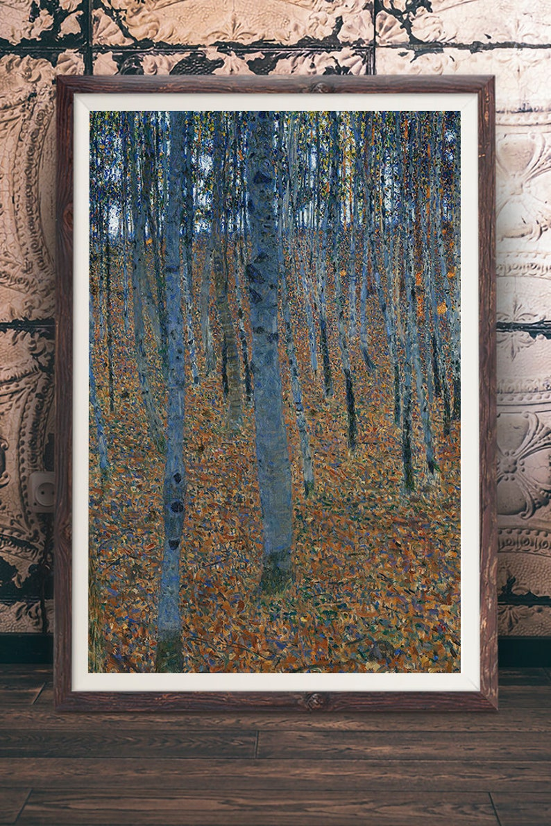Gustav Klimt Forest of Beech Trees Vintage Wall Art Poster Print Picture Giclee