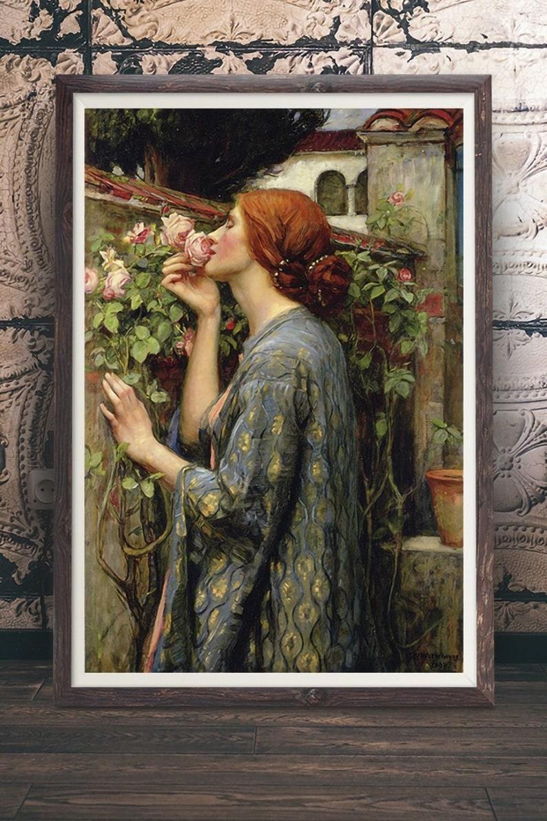 The Soul of the Rose Pre Raphaelite Renaissance Art John William Waterhouse
