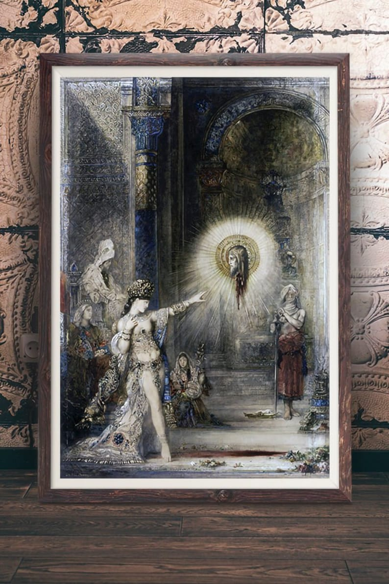 Gustave Moreau Saint George and the Dragon Giclee Paper Print Poster