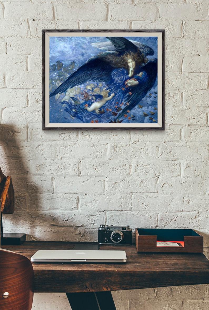 EDWARD ROBERT HUGHES ~ STAR OF HEAVEN 24x36 ART POSTER NEW//ROLLED!